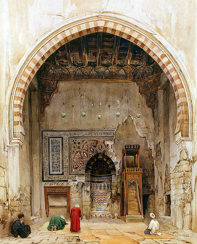 Interior of a Mosque in Cairo Charles Pierron