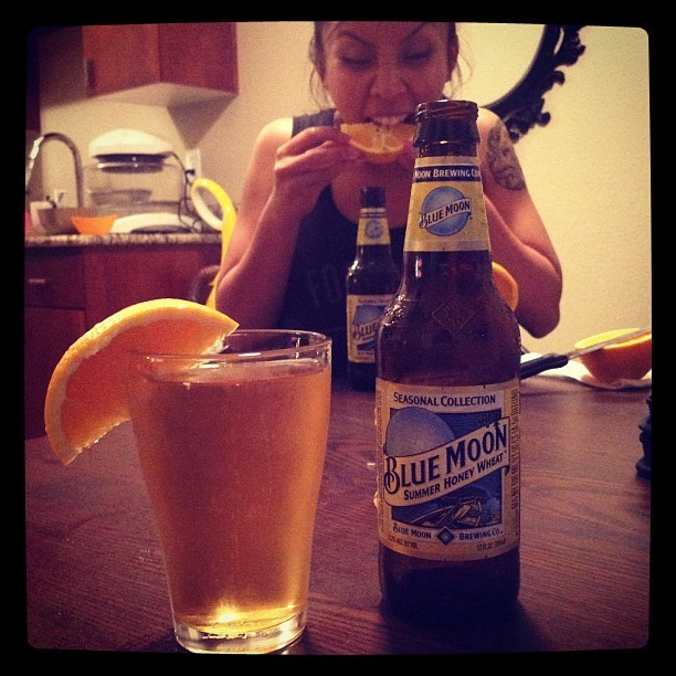 A summery #BlueMoon night with @cretinquibs  (Taken with Instagram)