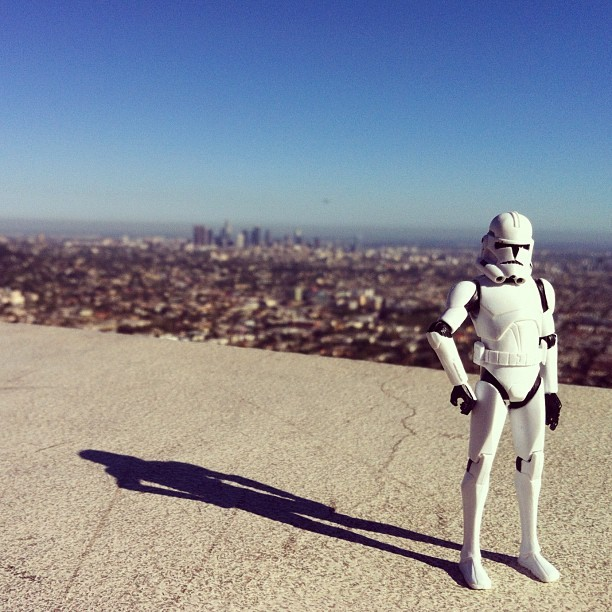 #georgethetrooper enjoying LA (Taken with Instagram)