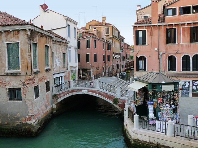 | ♕ |  Little bridge over canal - Venice  | by © sylvia-münchen