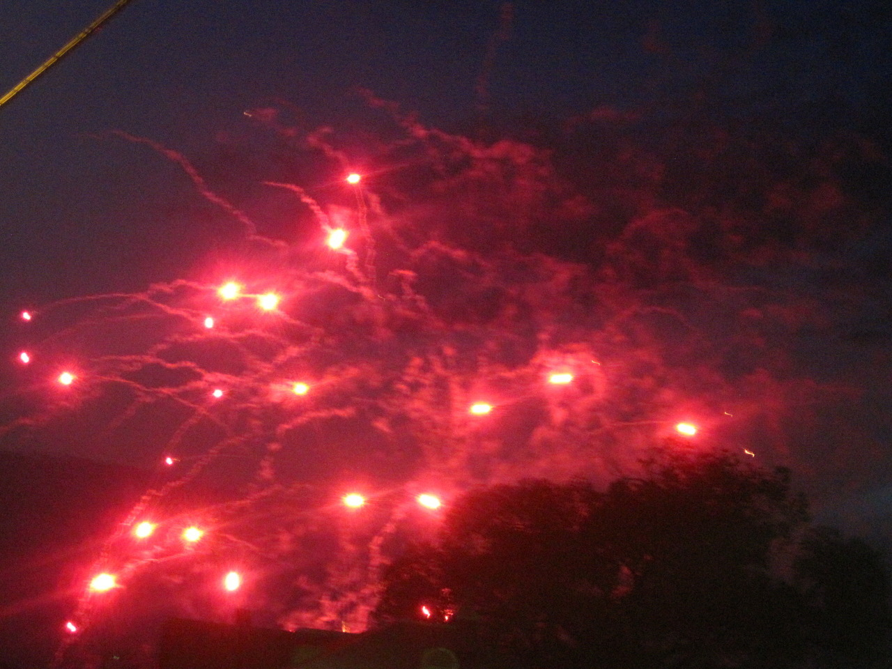 Fireworks as seen from Penn Avenue in Lawrenceville.