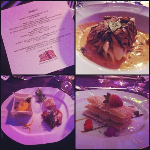 Food from last night's TattAwards! Ang saraaaap! Margarita Fores (Cibo) is the best!!! #tattawards #food  (Taken with Instagram at NBC Tent)
