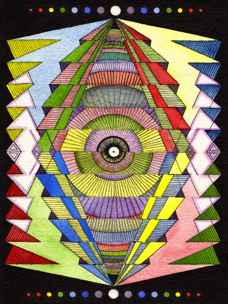 "fuckyeahpsychedelics:  ""The Singular Vision"" by Justin Potts"