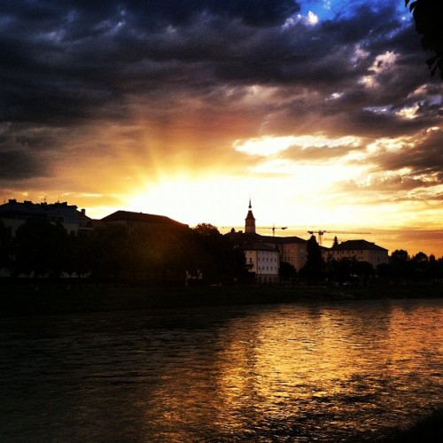 Sunset in Salzburg, Austria  Photo taken June 29th, 2012