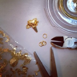 DIY Gold-Tipped Shark Tooth Necklace