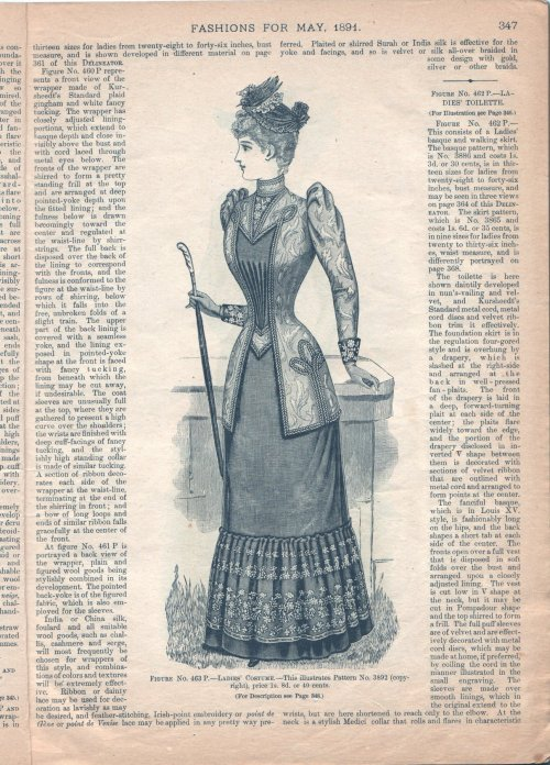 oldrags:  Dress, May 1891 Canada, The Delineator (Canadian version)