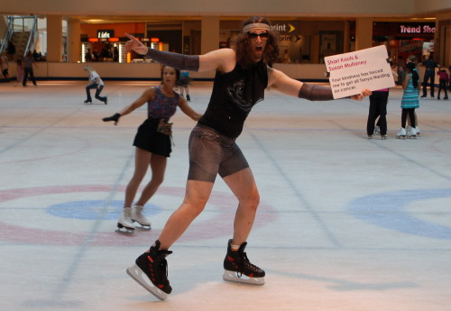 Chicks who rock the rink seem to dig on dudes in tight clothes. Shari and Susan, thanks to your donation I now have a skating partner:)