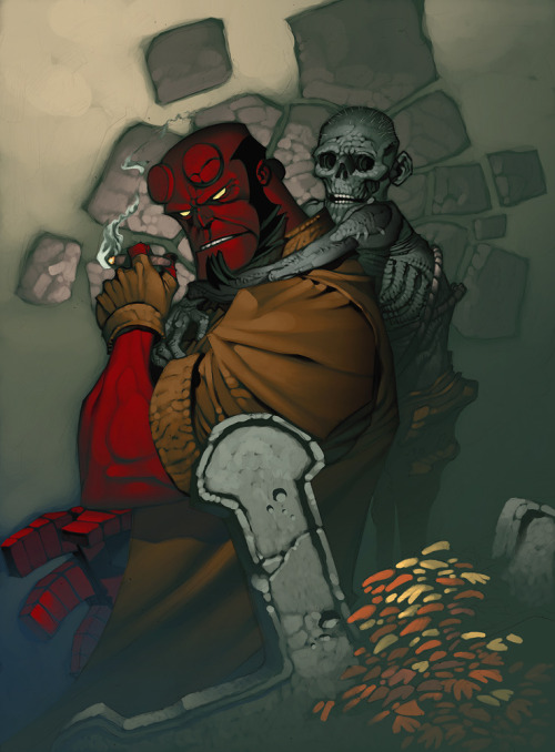 mikempatrick:  Hellboy illustration by Chris Stevens.