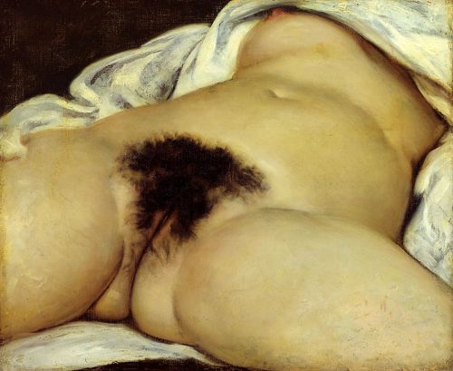Gustave Courbet - The Origin of the World. Saw this at the Met. One of first paintings take from a photograph…