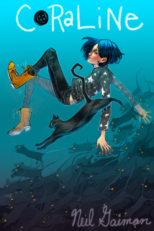 violet-kitsune:  Coraline by *herringbonnes Wish this was the real cover…