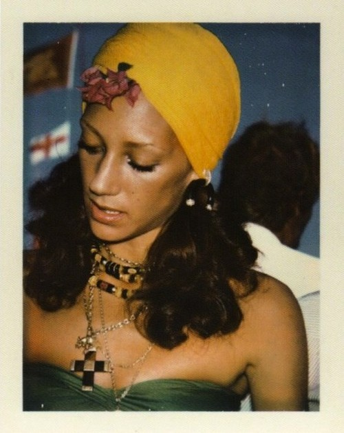 Marisa Berenson polarioid by Andy Warhol.
