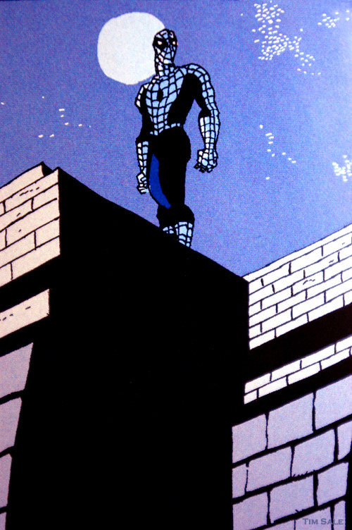 Parker. Art from Spider-Man: Blue ~ Jeph Loeb & Tim Sale: 2002-2003. Comic-Con. San Diego. 2011. My Hotel Room. My Desk.