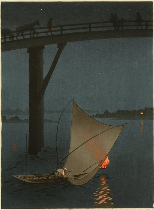 graceandcompany:  ♥LIKE Fishing Boat - Night Scene Series: Yoshimune Arai