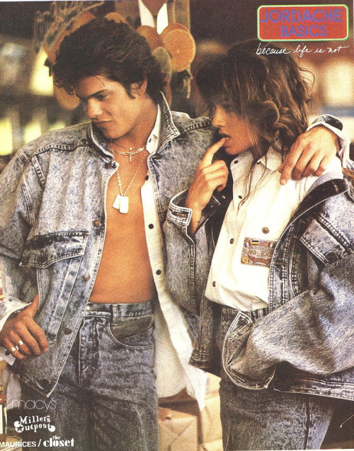 just80sfashion:  Jordache, 1987   Lovin' the acid wash!