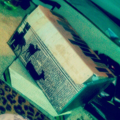 Decorated another box. Such a wild weekend.. … :-P #scrapbookpaper #box #artsandcrafts #crafts #modpodge (Taken with Instagram)