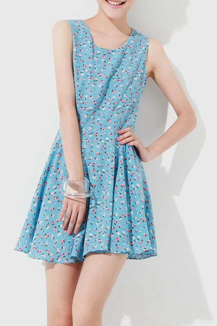 (via Rural Retro Hollow Back Blue Dress [NCSKM0403] - $50.99 :)