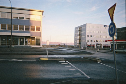 Another one from that roll of film from 2009 in Iceland. There's something I really, really love about walking empty streets on Sunday mornings. This one I remember well, as we were heading downtown to meet up with some friends, so walked through some beautifully empty streets to get there.