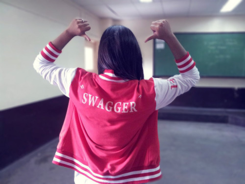 "The VJacket says it all ""SWAGGER"" What do you think of my new Cover Photo? Add me! Yay! :)) http://www.facebook.com/ocampogenxx"
