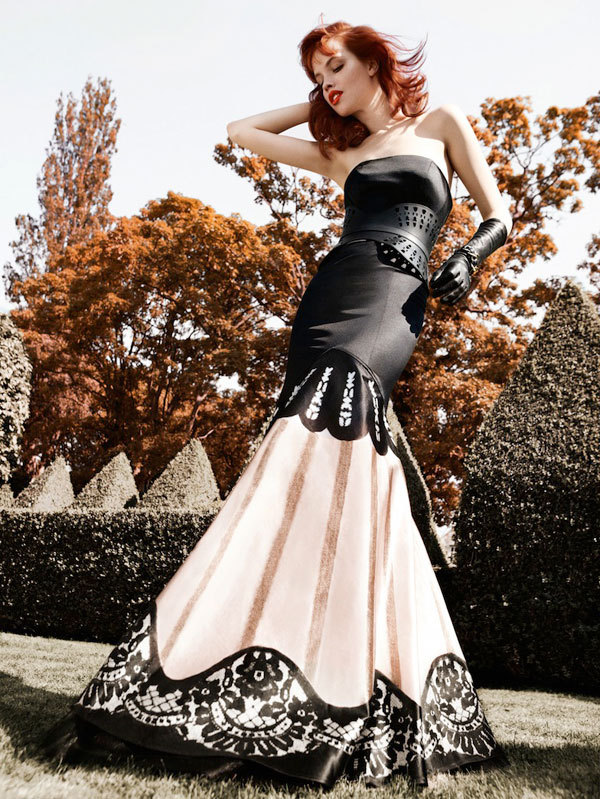 stormtrooperfashion:  Adam Whitehead shoots Julia Johanson for Temperley London F/W 11/12.
