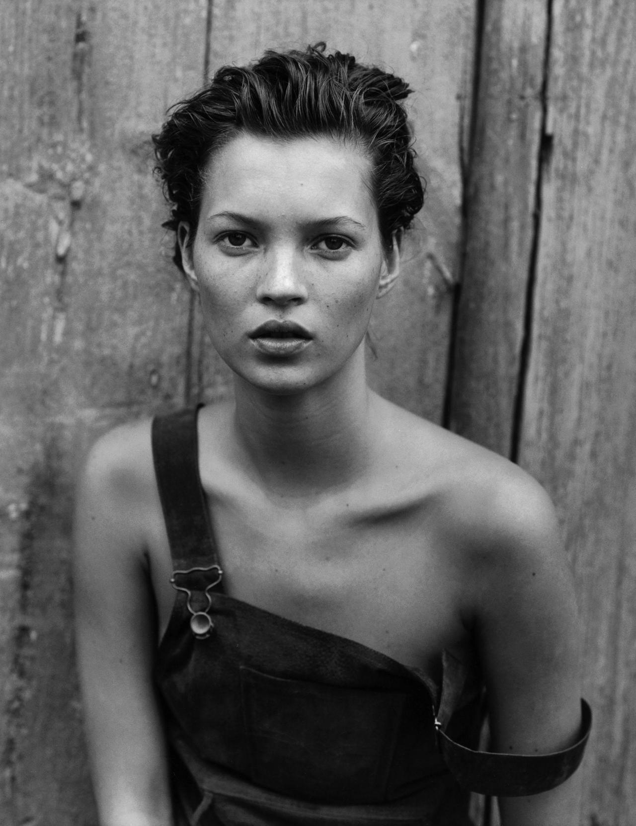 Kate Moss shot by Peter Lindbergh.