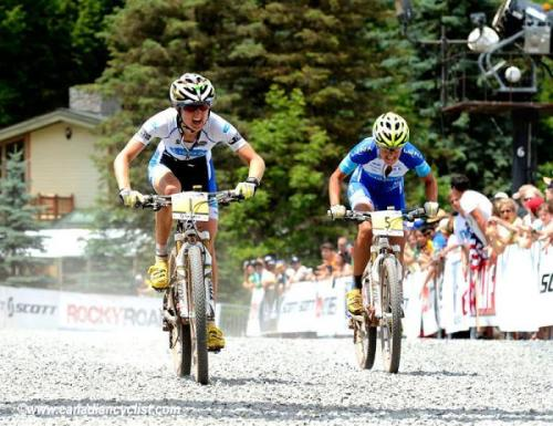 MTB World Cup Cross Country #6 - Windham 2012: Catharine Pendrel (Luna) Outsprints Teammate Katerina Nash To Take The Win, Photos | Cyclingnews.com 1.   Catharine Pendrel (Can) Luna Pro Team, 1:37:532.   Katerina Nash (Cze) Luna Pro Team, + 00:013.   Georgia Gould (USA) Luna Pro Team, + 00:104.   Marie-Hélène Premont (Can) + 01:035.   Lea Davison (USA) Specialized Racing, + 01:506.   Alexandra Engen (Swe) Ghost Factory Racing, + 02:177.   Gunn-Rita Dahle Flesjaa (Nor) Multivan Merida, + 02:258.   Irina Kalentieva (Rus) Topeak Ergon, + 02:479.   Annie Last (GBr) Milka Brentjens, + 03:0310. Katrin Leumann (Swi) Ghost Factory Racing, + 04:12  Full results and race report on CN More photos of the Windham XC World Cup on Cyclingnews