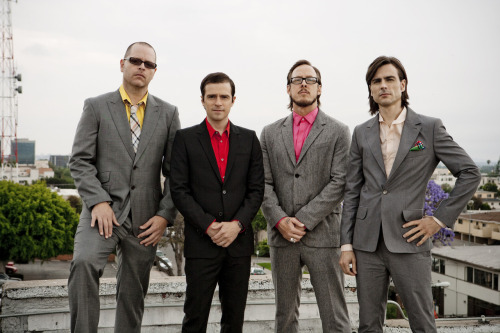 Weezer (Left to right: Patrick Wilson, Rivers Cuomo, Scott Shriner, Brian Bell)