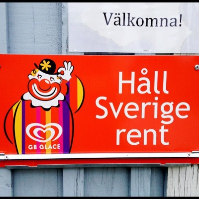 """Welcome. Keep Sweden clean"" (Taken with Instagram)"