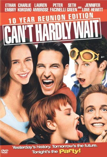 Can't Hardly Wait (1998)  Its high school graduation, and like all seniors they want to party. So 500 high school seniors look forward to a party, while in the meantime a boy wants to get a girl he's loved for years that just broke up with her boyfriend and one head-case that wants revenge on a lifelong bully. So the party comes, things develop. People have sex, drink, and go along with most of the guidelines of a high school graduation party.  Cast: Jennifer Love Hewitt, Ethan Embry, Charlie Korsmo, Lauren Ambrose, Peter Facinelli, Seth Green, Michelle Brookhurst, Melissa Joan Hart Follow this blog for the neverending list of all the teen movies ever made!