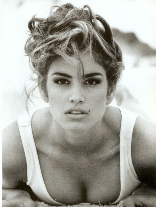 """Pure And Healthy"", Vogue Italia, January 1992Model : Cindy Crawford"