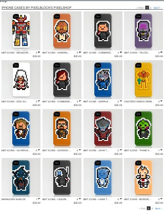 "Look at all of those lovely pixelated Iphone Covers !  The Society6 ""Free Shipping"" event ends TODAY, so check out my store !   PixelBlock's Pixelshop"