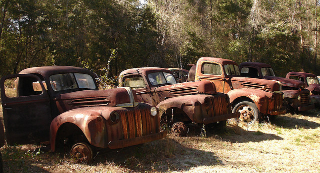 truck graveyard art by MarkGregory007