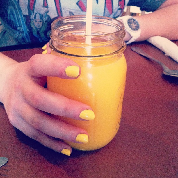 Coordinated breakfast drink. @ciwicki  (Taken with Instagram)