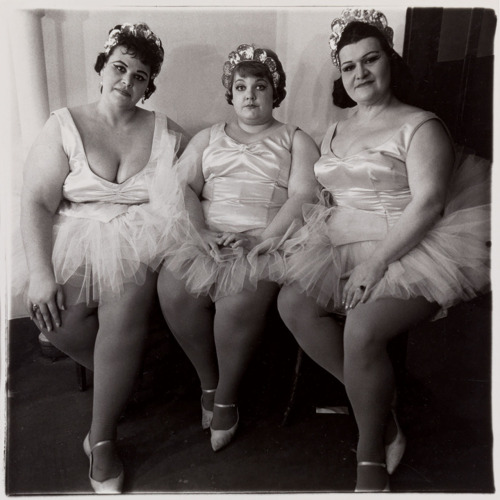 Diane Arbus THREE CIRCUS BALLERINAS, NJ, 1964