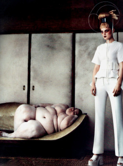 Welcome to Our Kingdom. Guinevere van Seenus in Céline Spring 2012, photographed by Daniele Duella & Iango Henzi for i-D, Spring 2012.