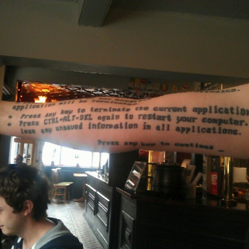 arm of death. #tattoo #tech #windows #microsoft #bsod (Taken with Instagram)