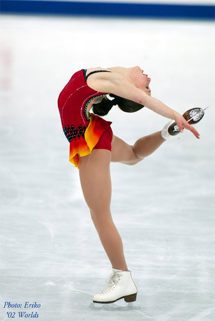 beautiful-shapes:  Sasha Cohen Worlds 2002  Things I will never have: back flexibility.