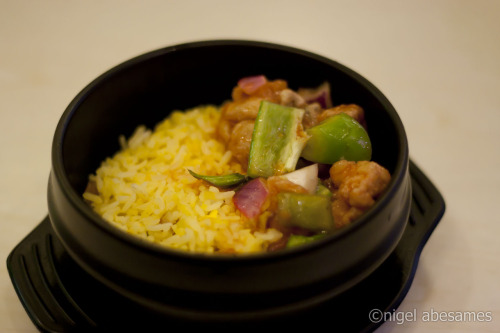 gastronomersdiary:  Sweet and Sour Pork Rice Bowl