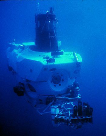 Alvin (DSV-2) is a manned deep-ocean research submersible owned by the United States Navy and operated by the Woods Hole Oceanographic Institution (WHOI) in Woods Hole, Massachusetts. The vehicle was built by General Mills' Electronics Group[1] in Minneapolis, Minnesota. Named to honor the prime mover and creative inspiration for the vehicle, Allyn Vine, Alvin was commissioned on 5 June 1964. The submersible is launched from the deep submergence support vessel R/V Atlantis (AGOR-25), which is also owned by the U.S. Navy and operated by WHOI. The submersible has made over 4,400 dives, carrying two scientists and a pilot, to observe the lifeforms that must cope with super-pressures and move about in total darkness. Research conducted by Alvin has been featured in nearly 2,000 scientific papers. There is a small chance I can go diving with Alvin for my graduate research on hydrothermal vents. Fingers crossed!