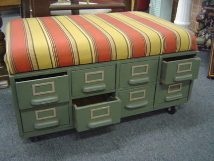 So cute! I love this ottoman!