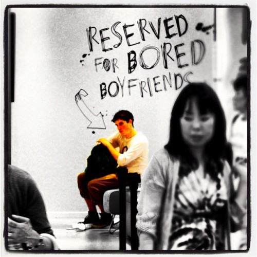"""Reserved For Bored Boyfriends"" - H&M (Colorsplash edit) (Taken with Instagram at Fukuoka, Japan)"