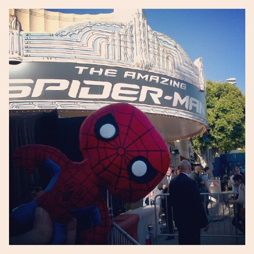 #igersitalia_swspidermantour #amazingspiderman Spiderino in the USA! (via Photo by screenweek_pic • Instagram)