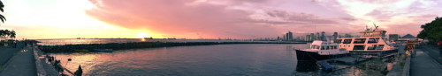 """Manila Bay"" My first panorama I took here. Consisted of 7 photos taken with my 18-200mm lens. It's basically a 180` shot, but maybe a bit less since I cropped the edges when straightening it out a cinch. Hope you like it! I have a few more photos coming up soon, so stay tuned. Taken in Manila, the Philippines, with my Nikon D60.JoseRomuald"