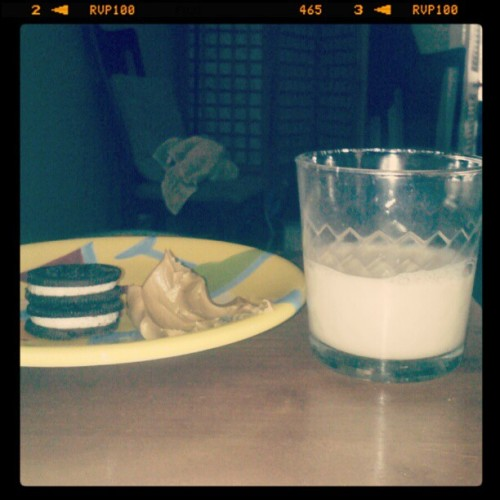 Perfect. #peanutbutter #oreos #soymilk #:) (Taken with Instagram)