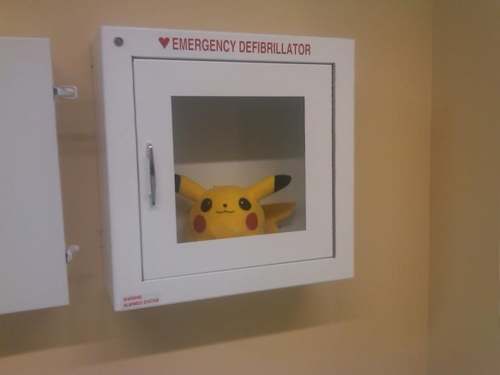Me: look, lol Aunt: so what if a guy dies when they can't find the defib? *buzzkill*