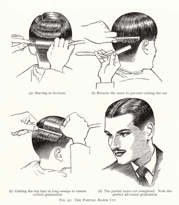 From The Art & Craft of Hairdressing, N E B Wolters, 1958 edition.