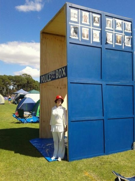 curtinsfc:  Not content with a scale model of the TARDIS, we doubled it to make our 4m high 'tent' to support cancer research- Curtin University Relay for Life 2012  very cool