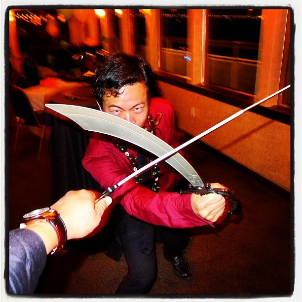 I tried to kill @anthonyha last night. My bad. (Taken with Instagram at On a Boat!)