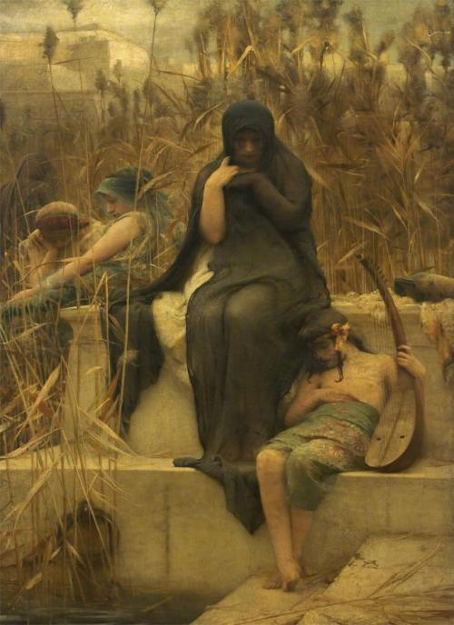 ponderful:  Arthur Hacker, By the waters of Babylon (1888)