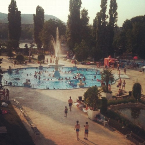 Hazy swimming day #budapest  (Taken with Instagram)