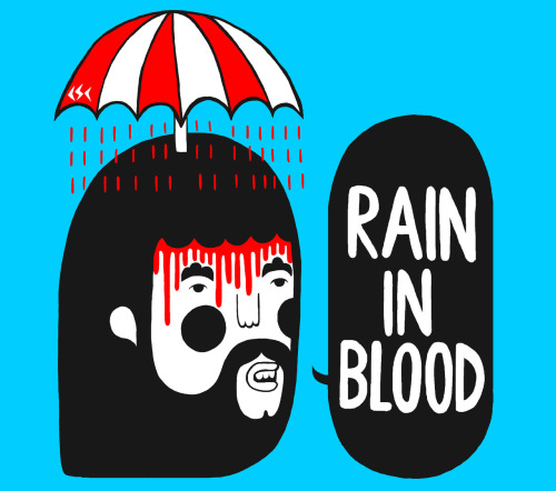 philipmorganillustration:   ' Rain In Blood ' www.philmorganillustration.co.uk www.cardiffskateboardclub.com
